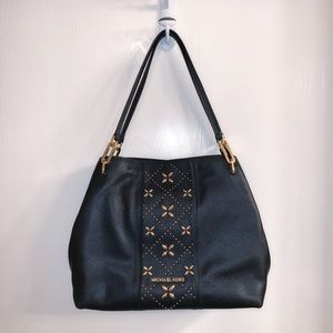 Michael Kors Black Embellished Shoulder Bag